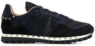 Valentino Rockstud camouflage sneakers