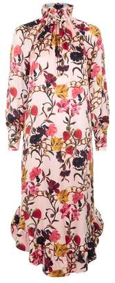 Mother of Pearl Marion Floral Silk Midi Dress