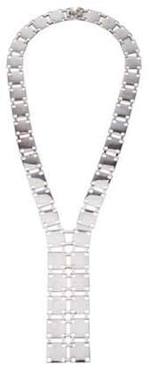 Christofle Square Linked Lavalier Necklace silver Square Linked Lavalier Necklace