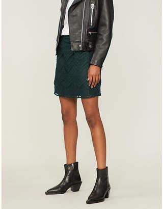 Maje Jyvais high-waist lace mini skirt