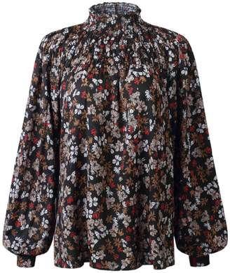 Goodnight Macaroon 'Hiba' Floral High Neck Blouse (3 Colors)