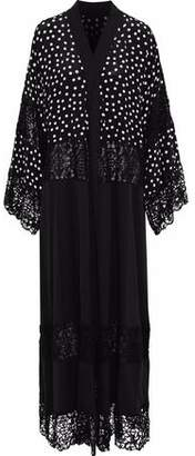Dolce & Gabbana Paneled Guipure Lace And Polka Dot Silk-Blend Maxi Dress