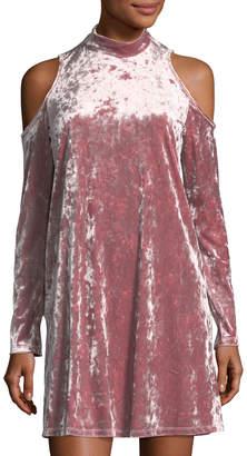 Maggy London Crushed Velvet Flare Dress