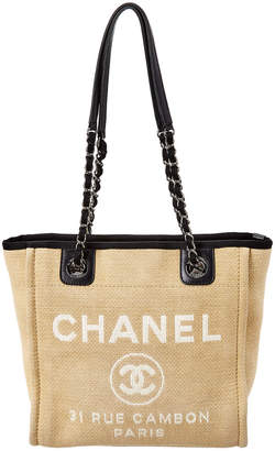 Chanel Beige Canvas Mini Deauville Tote