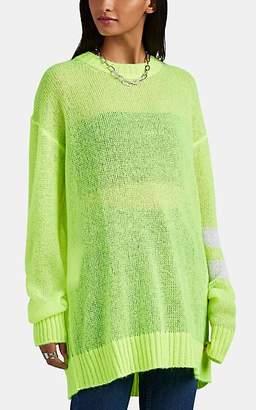 Maison Margiela Women's Striped-Sleeve Oversized Sweater - Yellow