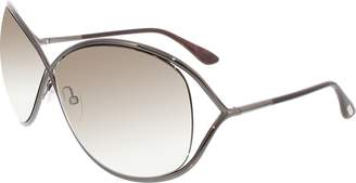 Tom Ford Women's Gradient Miranda FT0130-36F-68 Brown Butterfly Sunglasses