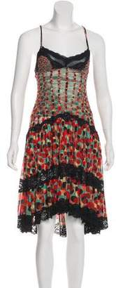 Jean Paul Gaultier Soleil Polka Dot Mesh Dress
