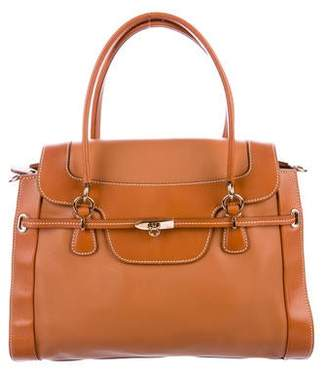 Salvatore Ferragamo Smooth Leather Satchel