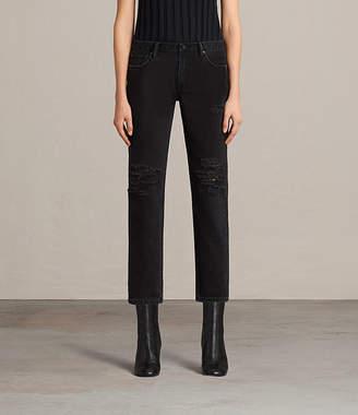 AllSaints Muse Slim Destroys Jeans