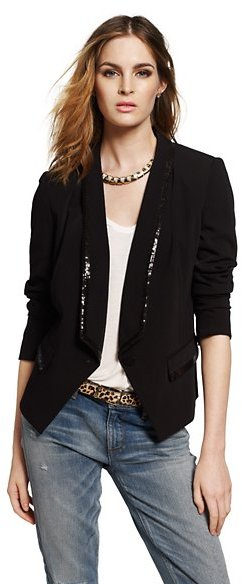 Juicy Couture Satin Crepe Blazer