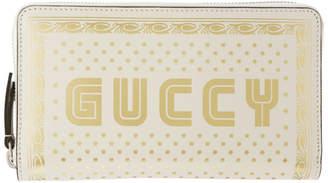 Gucci White Guccy Sega Logo Wallet