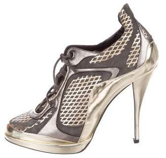 Pierre Hardy Metallic Leather Booties
