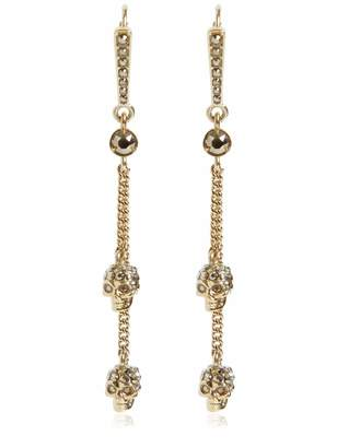 Alexander McQueen Skulls Drop Earrings