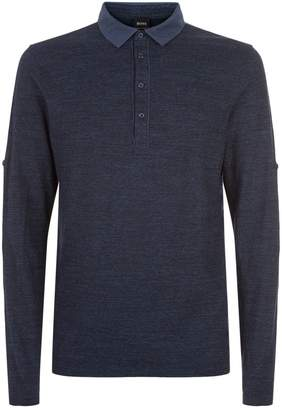 BOSS ORANGE Roll Sleeve Polo Shirt