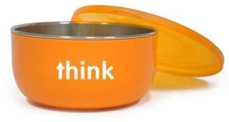 Thinkbaby BPA Free Cereal Bowl, Orange, 1 ct