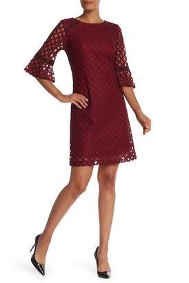 Sandra Darren 3/4 Sleeve Lace Dress