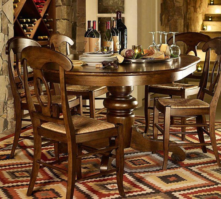 Pottery Barn Tivoli Extending Pedestal Dining Table - Tuscan Chestnut stain