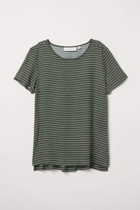 H&M Short-sleeved Blouse - Green