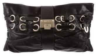 Jimmy Choo Leather Rio Clutch