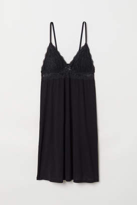 H&M Nightgown with Lace - Black