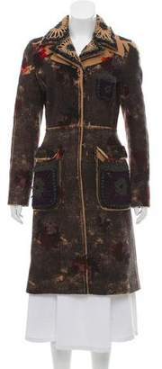 Prada Wool Embroidered Coat