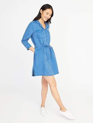 Old Navy Tencel® Tie-Belt Utility Shirt Dress for Women