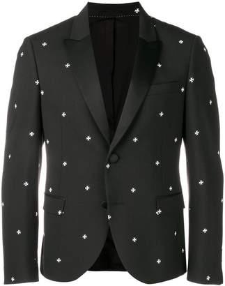 Neil Barrett cross slim-fitted blazer