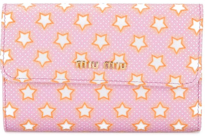 Miu MiuMiu Miu stars print wallet