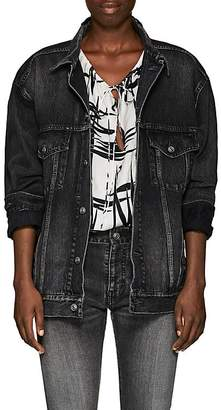 Balenciaga Women's Logo-Print Tech-Fabric Oversized Jacket