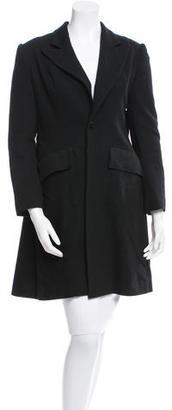 Yohji Yamamoto Wool Peaked Lapel Coat $245 thestylecure.com