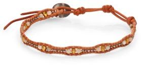 Chan LuuChan Luu Labradorite & Leather Single Strand Bracelet