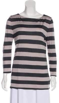 Burberry Silk Striped Top