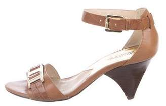MICHAEL Michael Kors Leather Ankle-Strap Wedges