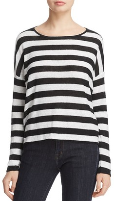 Eileen Fisher Striped Organic Linen Sweater - 100% Exclusive $178 thestylecure.com