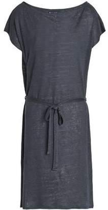 Petit Bateau Tie-Front Slub Linen-Jersey Dress