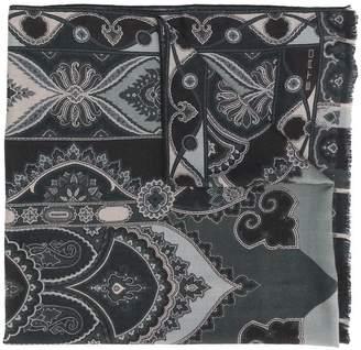 Etro pattern print scarf