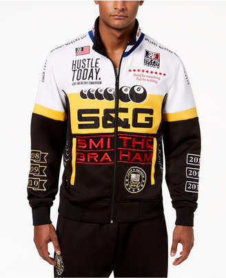 Smith and Graham Men's Tricot Colorblocked Embroidered Track Jacket