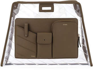 Fendi Peekaboo PVC and Leather Defender Cover for Bag