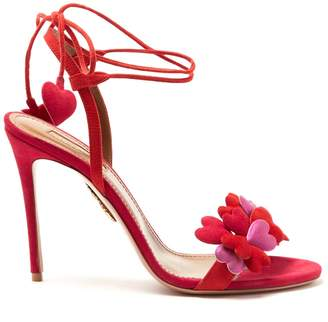 Aquazzura Happy Hearts suede sandals