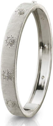 Buccellati Classica 18k White Gold Diamond Bangle Bracelet