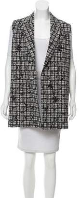 Reed Krakoff Printed Open Front Vest