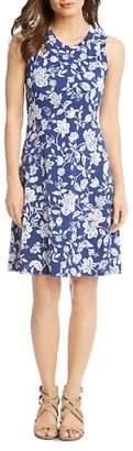 Karen Kane Woodblock Floral-Print Dress