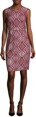 Tracy Reese Diamond Print Sheath Dress