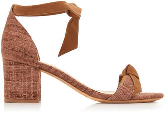 Alexandre Birman Clarita Block Heel Tweed And Suede Sandals