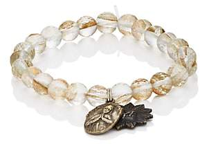 Miracle Icons MEN'S VINTAGE-ICON BEADED BRACELET-GOLD