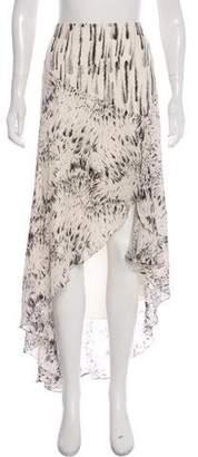 Haute Hippie Printed Silk Skirt
