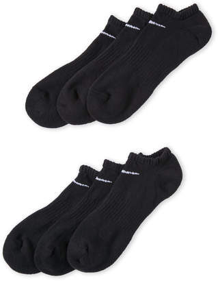 Nike 6-Pack No-Show Performance Cotton Cushioned Socks