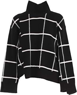 Mrz Checked Knit Sweater