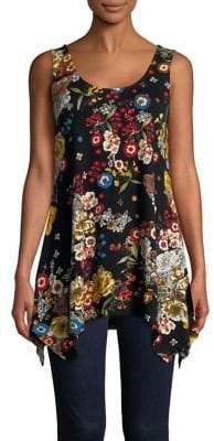 Context Floral-Print Sleeveless Top