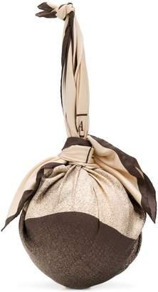 Marine Serre scarf ball clutch bag